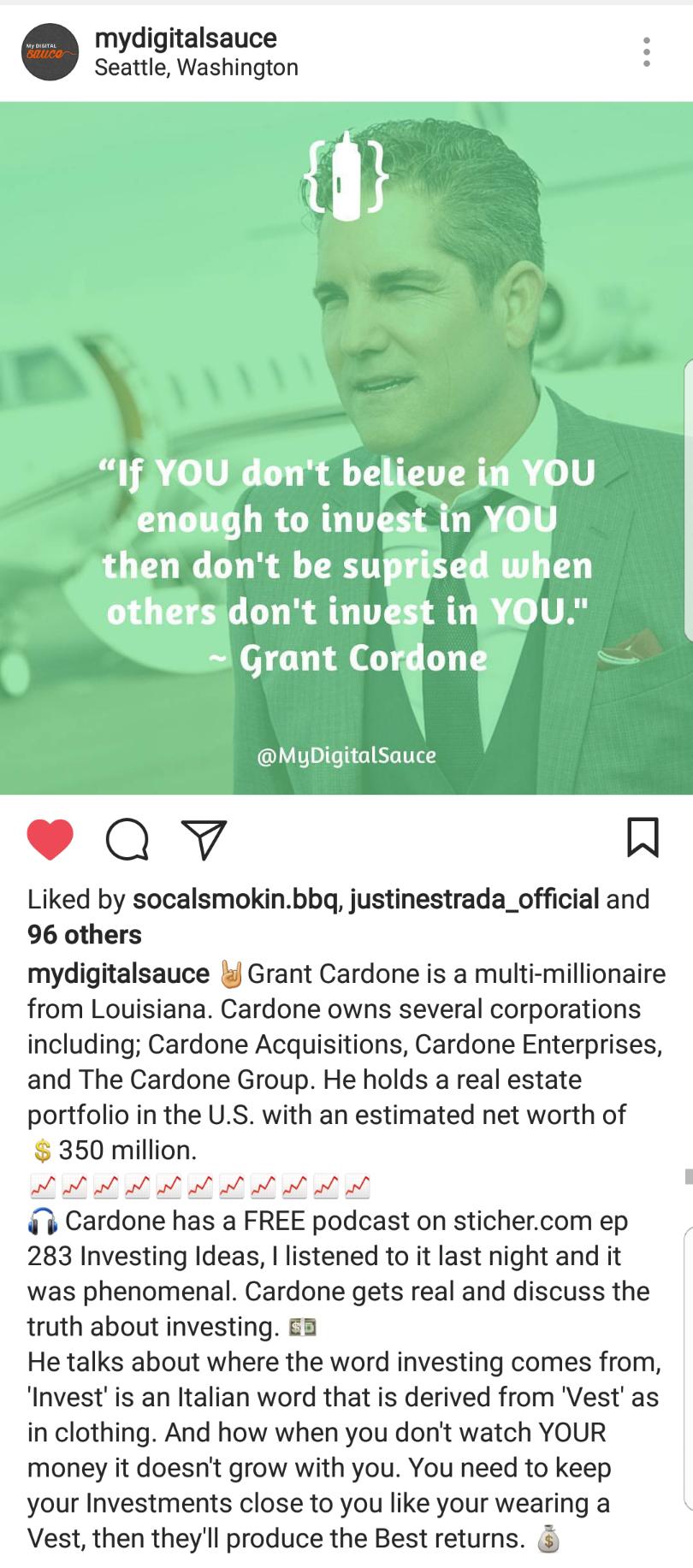 MyDigitalSauce Instagram Screenshot