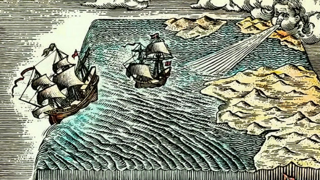 A depiction of what a flat Earth may have caused in the 1500s