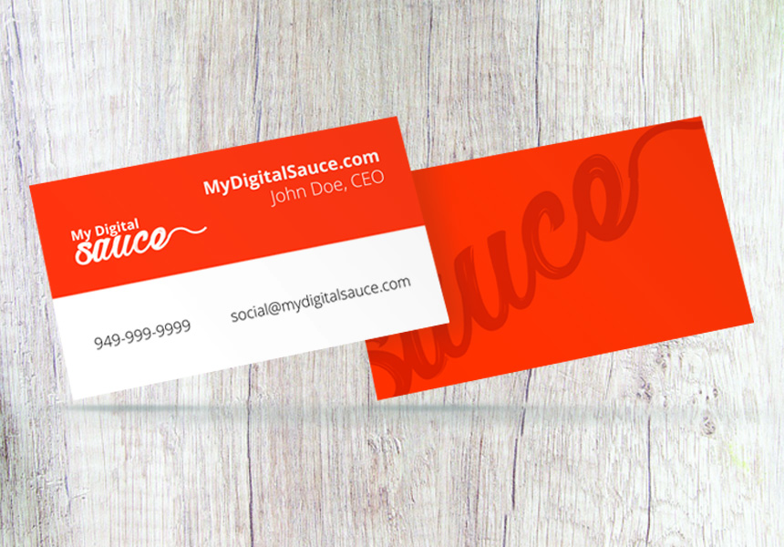 BBQ Business Card Floating Wood BG