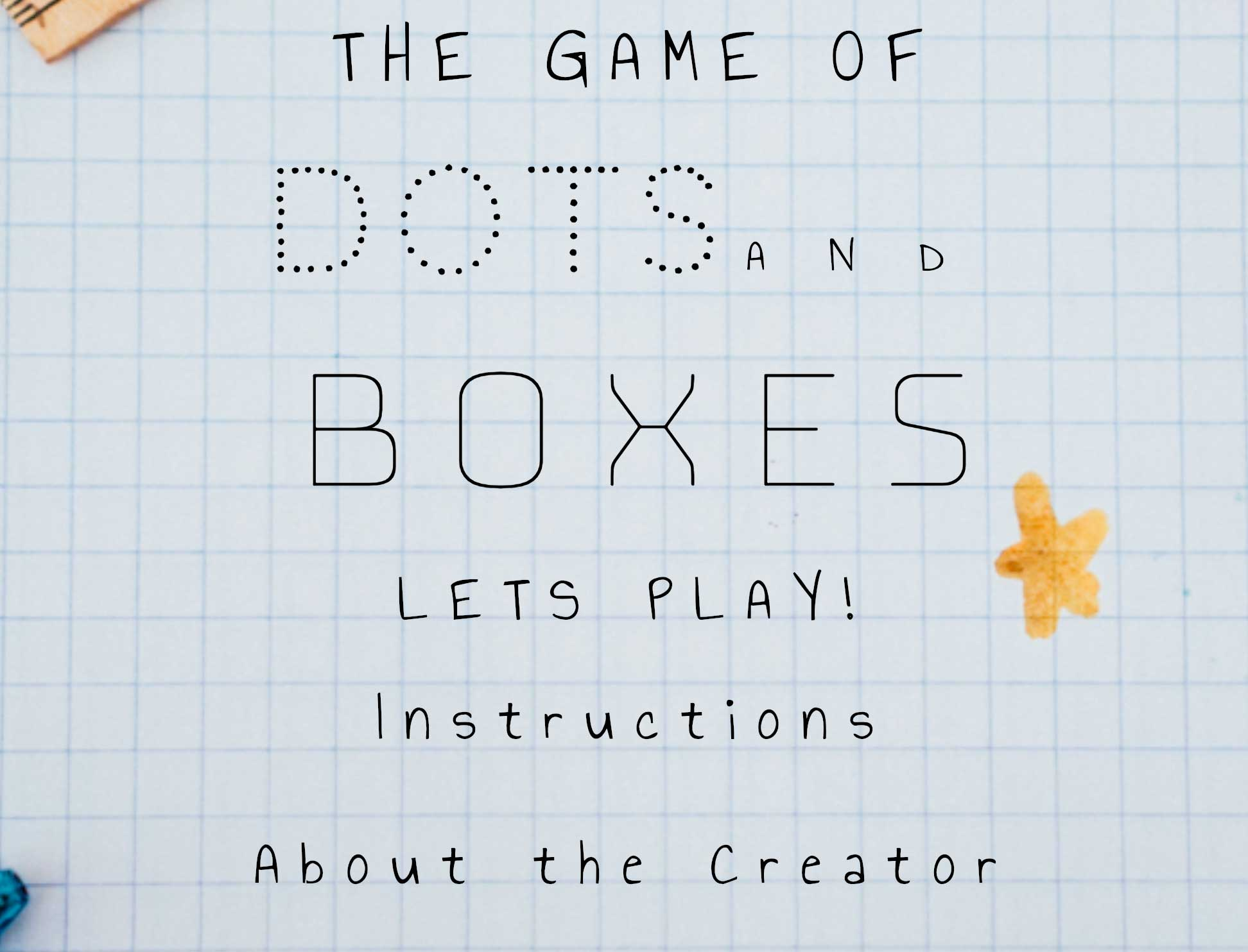 Dots & Boxes Game