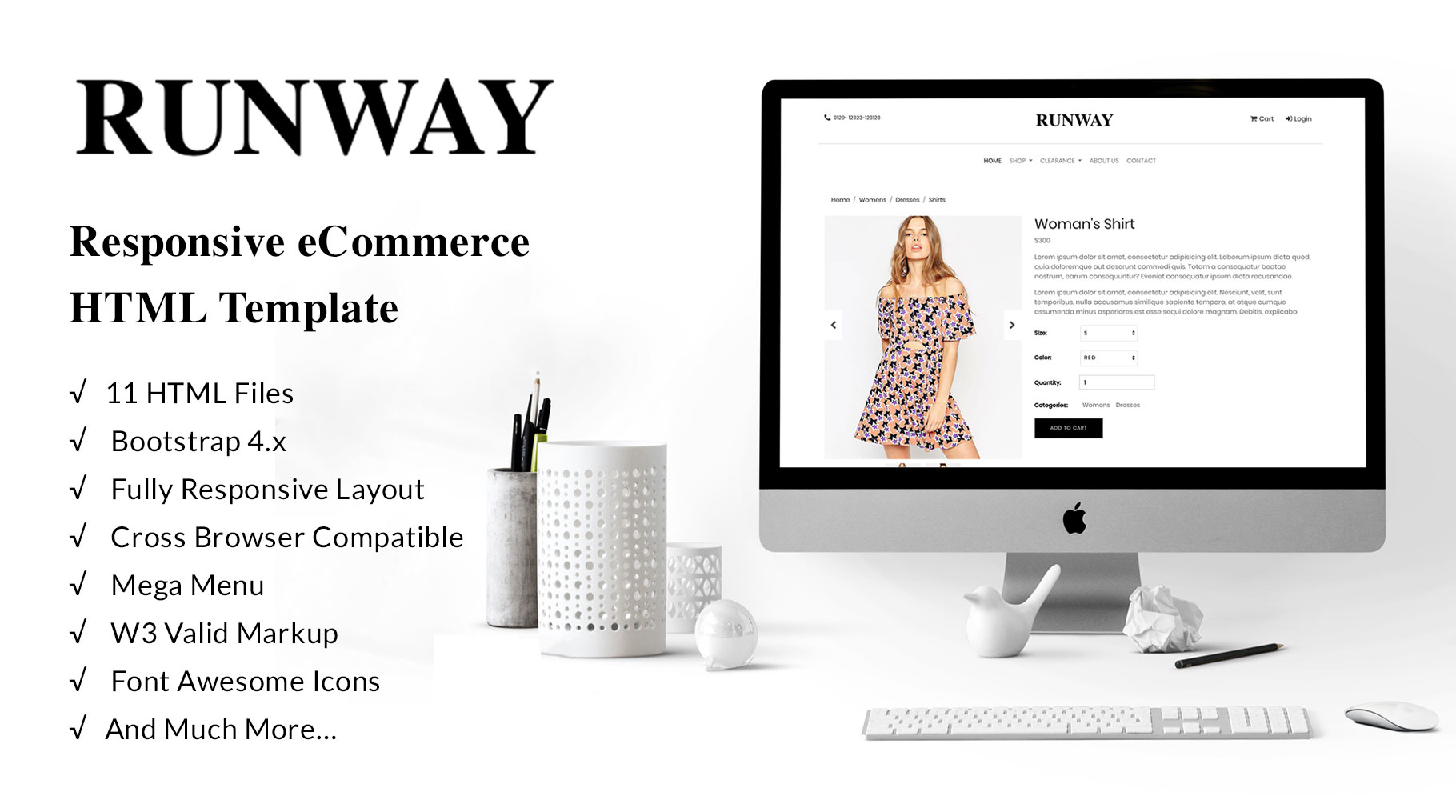 Runway – eCommerce Bootstrap 4 Template